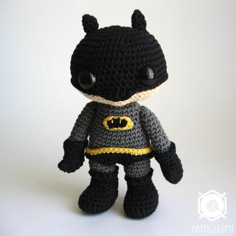 Batman amigurumi  free crochet pattern by Tales of twisted fibers